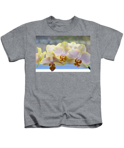 Yellow And Pink Orchids Kids T-Shirt