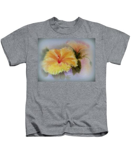 Yellow Hibiscus Kids T-Shirt