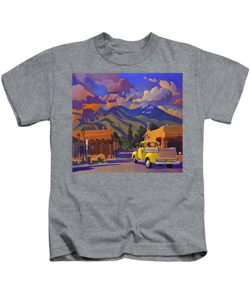 A Yellow Truck In Taos Kids T-Shirt