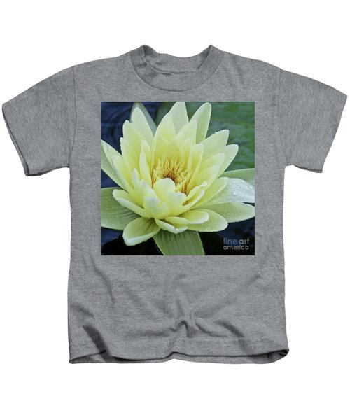 Yellow Water Lily Nymphaea Kids T-Shirt