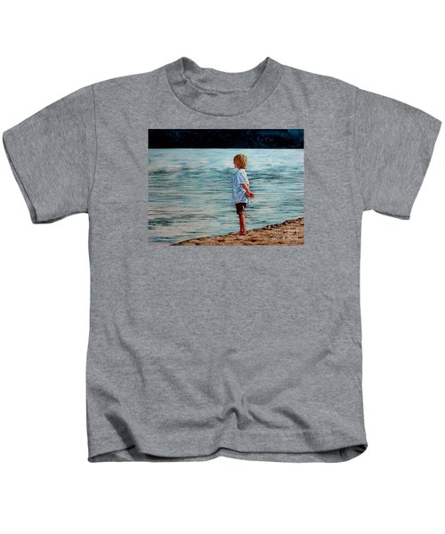 Young Lad By The Shore Kids T-Shirt