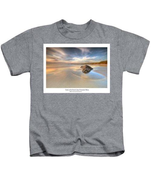 Dusk On The Beach Kids T-Shirt