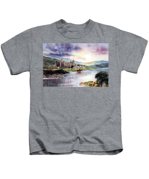 Late Evening At Tintern Abbey Kids T-Shirt