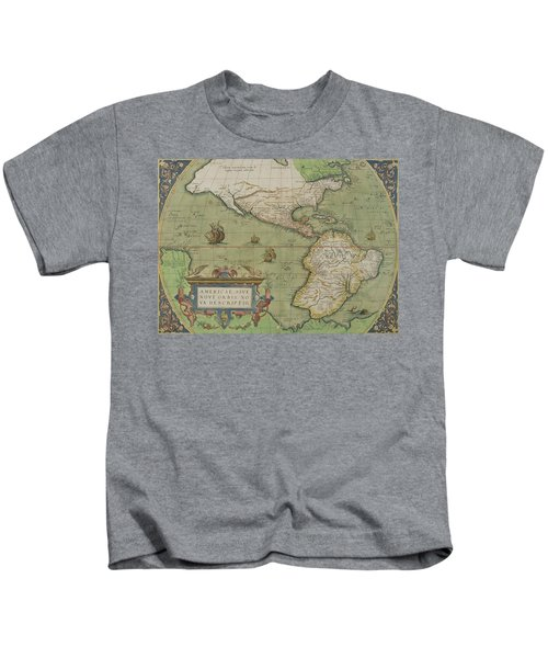Map Of North And South America Kids T-Shirt