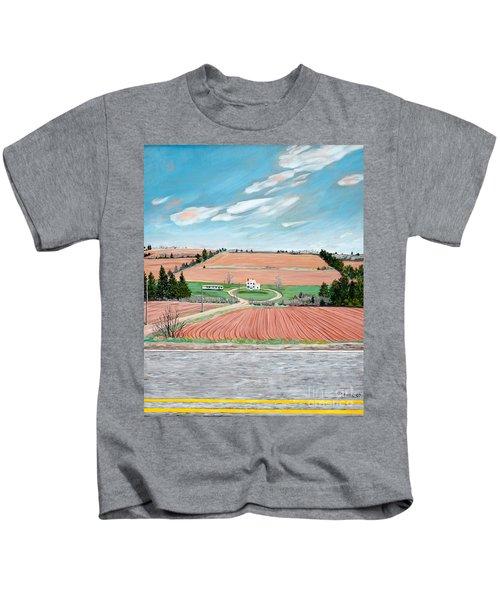 Red Soil On Prince Edward Island Kids T-Shirt