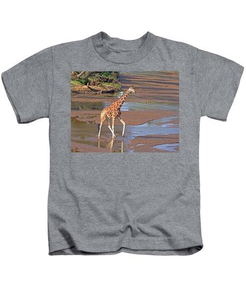 Reticulated Giraffe Kids T-Shirt