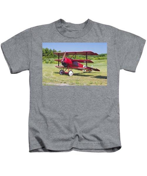1917 Fokker Dr.1 Triplane Red Barron Canvas Photo Print Poster Kids T-Shirt