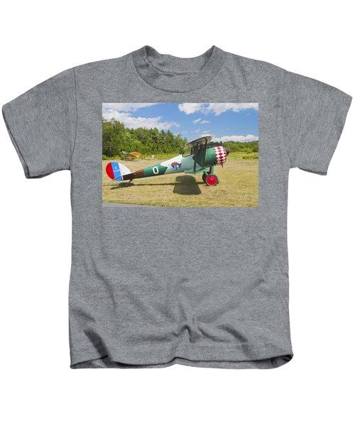 1917 Nieuport 28c.1 Antique Fighter Biplane Canvas Photo Poster Print Kids T-Shirt