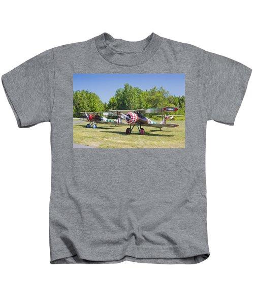 1917 Nieuport 28c.1 World War One Antique Fighter Biplane Canvas Poster Print Kids T-Shirt