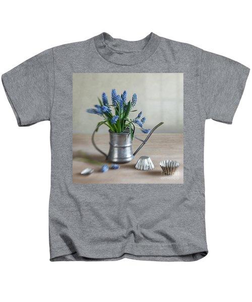 Still Life With Grape Hyacinths Kids T-Shirt