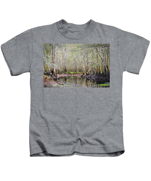A Quiet Back Woods Place Kids T-Shirt