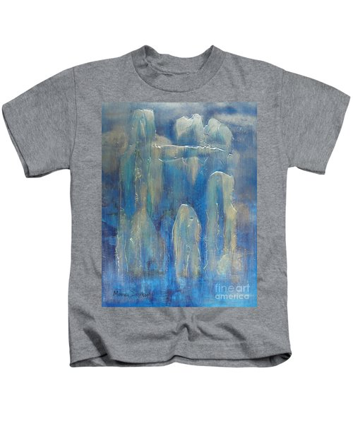 Abstract Blue Ice Kids T-Shirt
