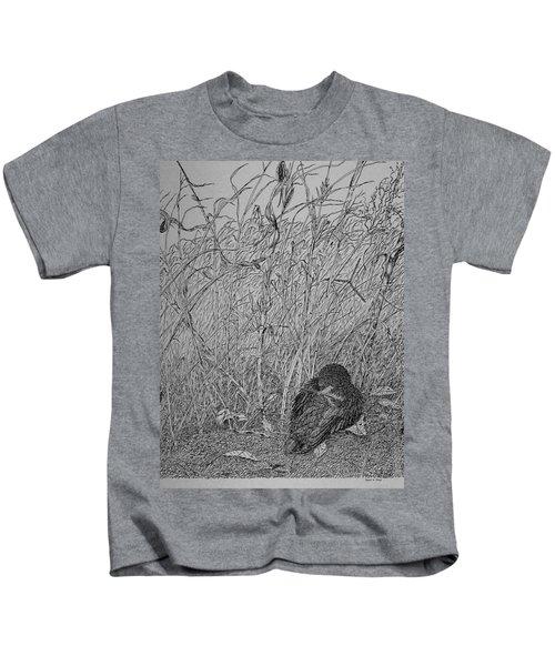Bird In Winter Kids T-Shirt