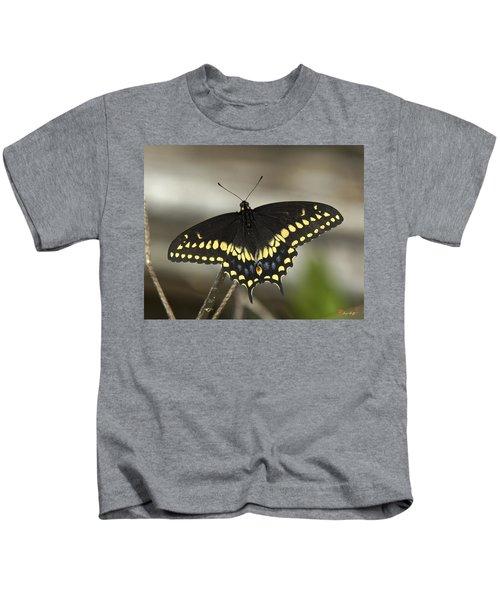 Black Swallowtail Din103 Kids T-Shirt