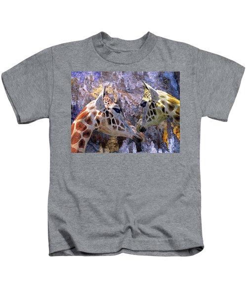 Blue Cave Giraffes Kids T-Shirt