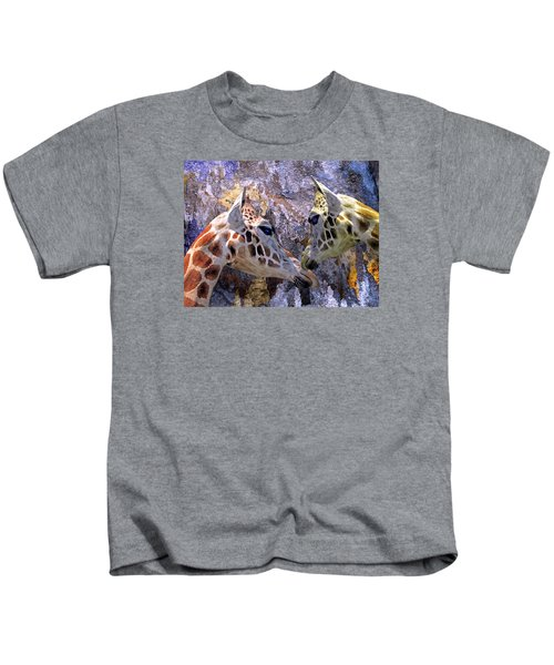 Blue Cave Giraffes Kids T-Shirt