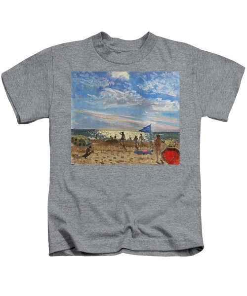 Blue Flag And Red Sun Shade Kids T-Shirt