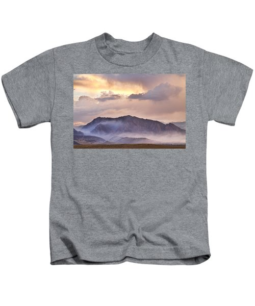 Boulder Colorado Flatirons And The Flagstaff Fire Kids T-Shirt