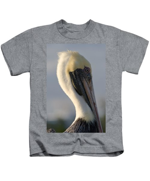 Brown Pelican Profile Kids T-Shirt