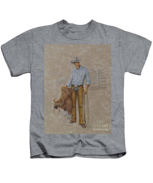 Busted Bronc Rider Kids T-Shirt