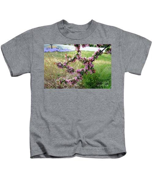 Circle Of Blossoms Kids T-Shirt