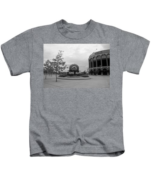 Citi Field In Black And White Kids T-Shirt