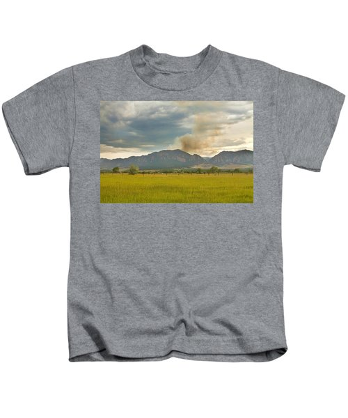 Country View Of The Flagstaff Fire Kids T-Shirt