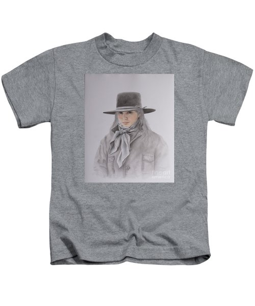 Cowgirl In Hat Kids T-Shirt