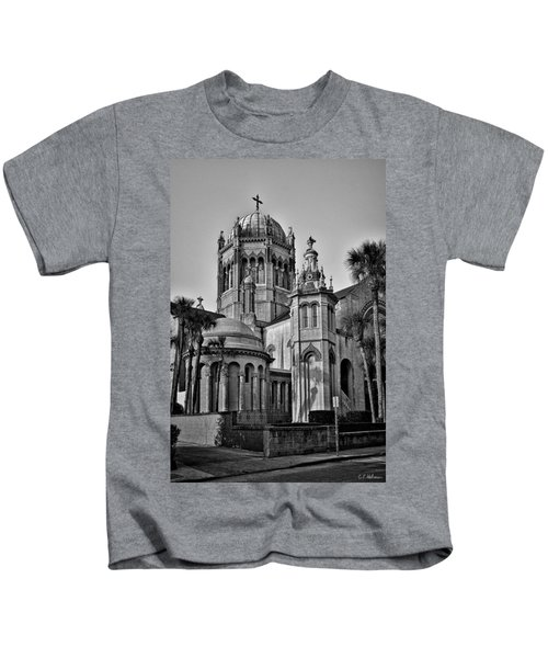 Flagler Memorial Presbyterian Church 3 - Bw Kids T-Shirt
