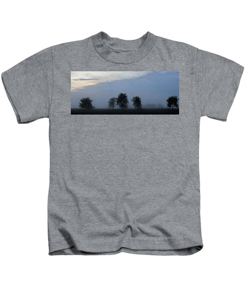Foggy Pennsylvania Treeline Kids T-Shirt