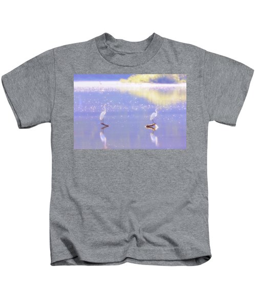 Great White Heron Kids T-Shirt