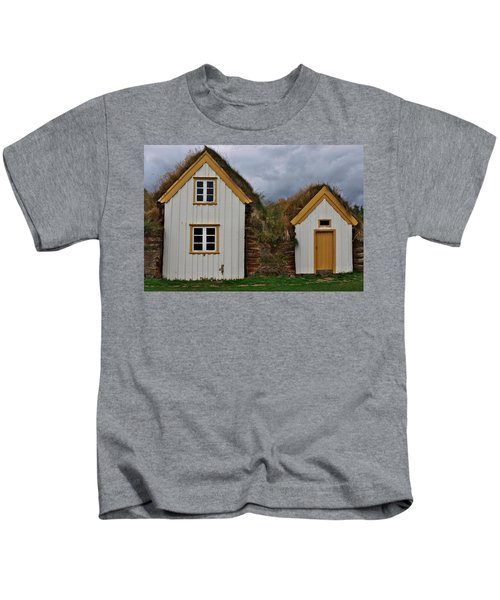 Icelandic Turf Houses Kids T-Shirt