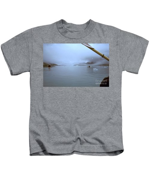 Kayaking In Glacier Bay, Alaska Kids T-Shirt