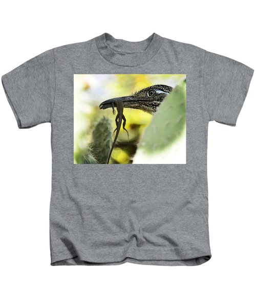 Lunch With A Roadrunner  Kids T-Shirt
