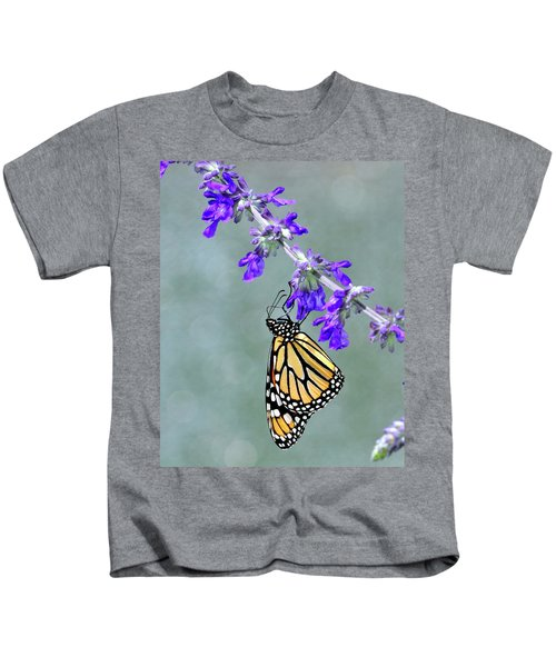 Monarch On Purple Kids T-Shirt