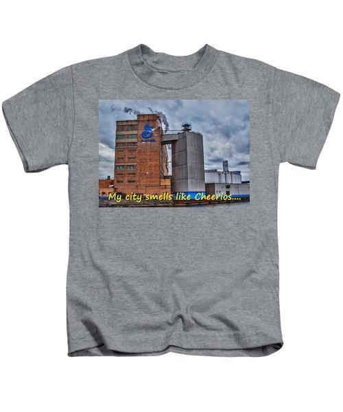 My City Smells Like Cheerios Kids T-Shirt