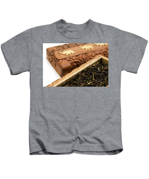 Ornate Box With Darjeeling Tea Kids T-Shirt