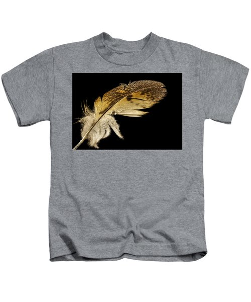 Owl Feather With Water Kids T-Shirt