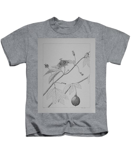 Passionflower Vine Kids T-Shirt