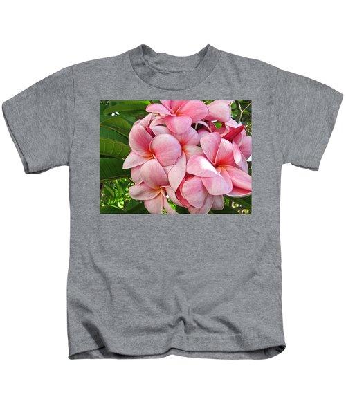 Pink Plumerias Kids T-Shirt