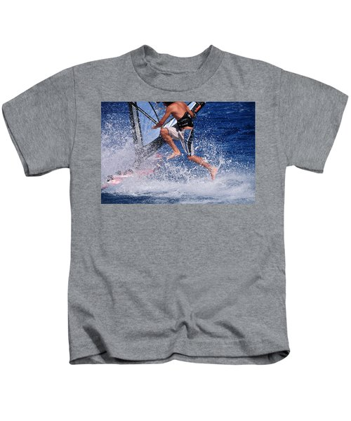 Playing With The Waves Kids T-Shirt