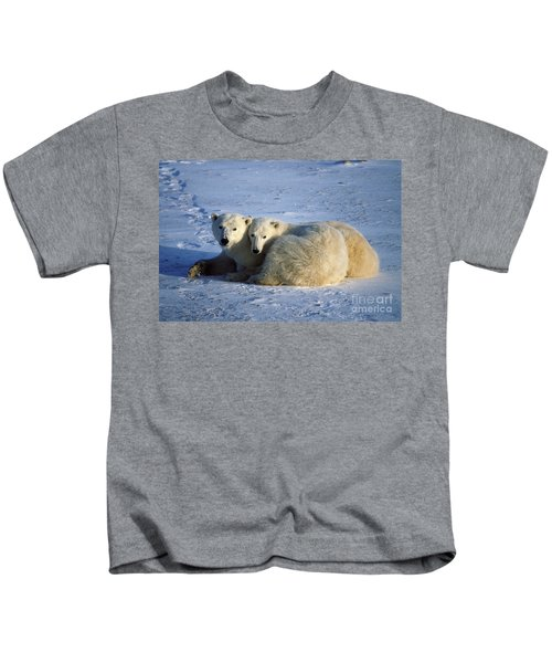 Polar Bear And Cub Kids T-Shirt
