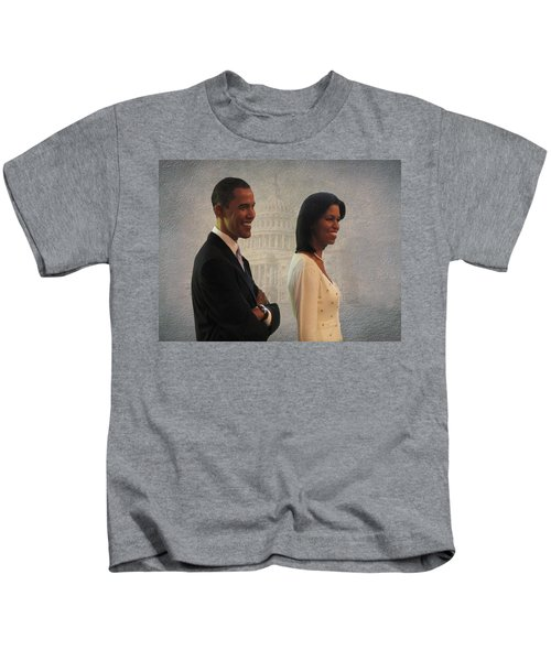 President Obama And First Lady Kids T-Shirt
