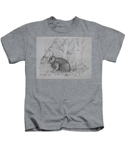Rabbit In Woodland Kids T-Shirt