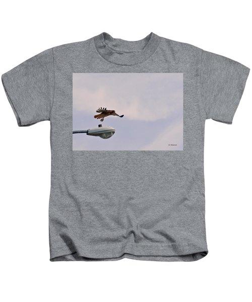 Red-tailed Hawk In Flight Kids T-Shirt