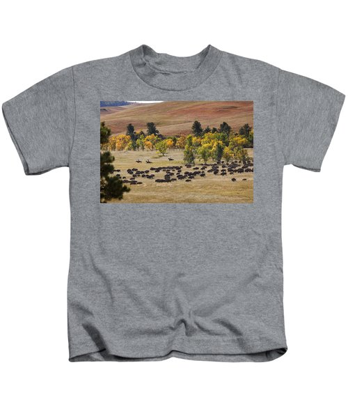 Riders Turning The Herd Kids T-Shirt