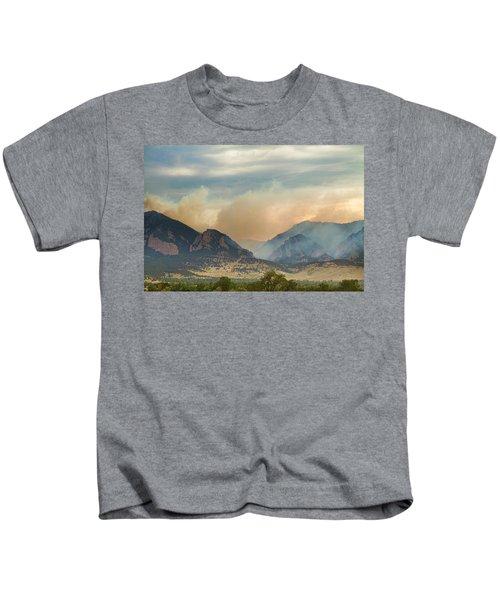 Smoky Rocky Mountains Kids T-Shirt