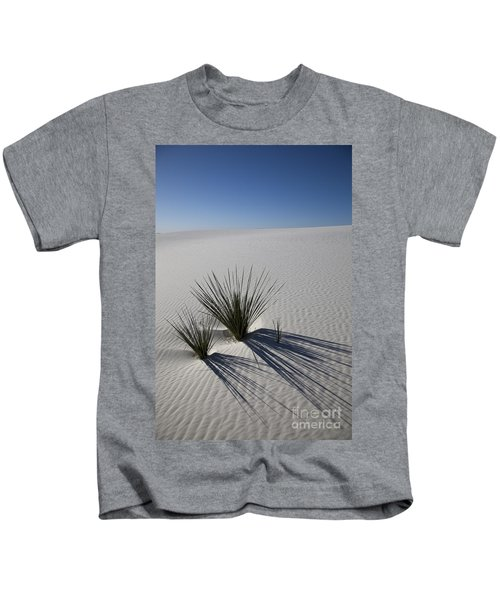 Soaptree Yuccas On White Sands Kids T-Shirt