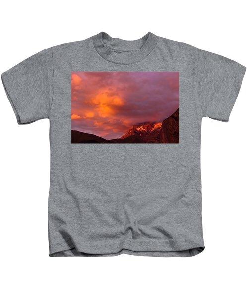 Sunset Murren Switzerland Kids T-Shirt
