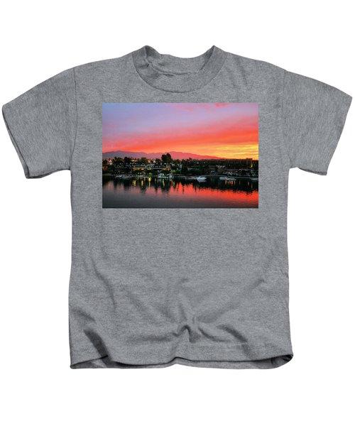 Sunset On Lake Havasu Kids T-Shirt
